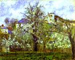 Camille Pissarro - Vegetable Garden and Trees in Blossom, Spring, Pontoise