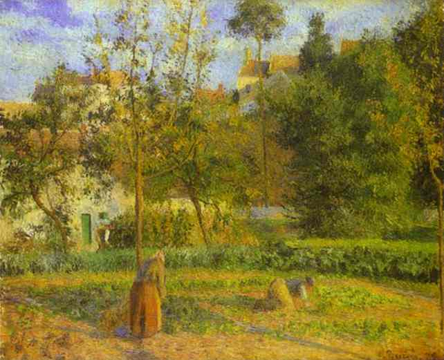 'Vegetable Garden at the Hermitage near Pontoise', Oil by Camille Pissarro (1830-1903, France)