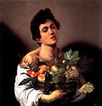 Caravaggio - Michelangelo Merisi - Boy With A Basket Of Fruit