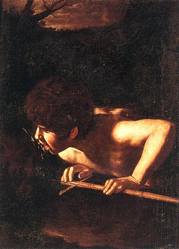 'St John The Baptist At The Well', Oil by Caravaggio - Michelangelo Merisi (1571-1610, Italy)