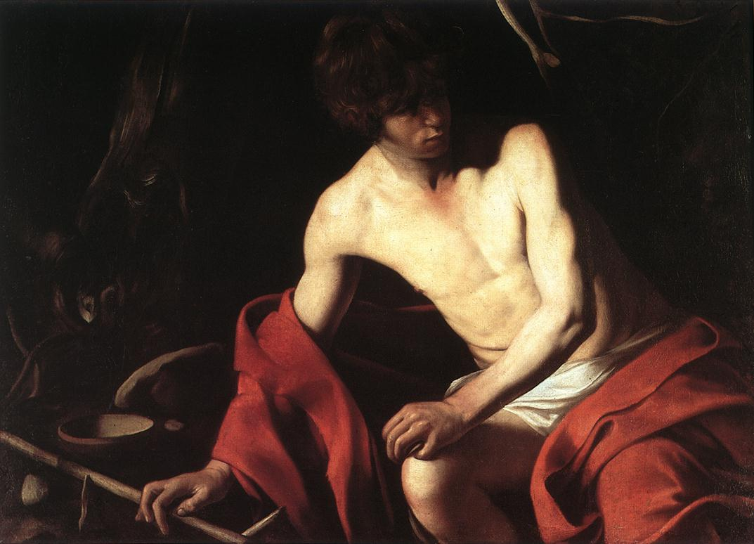 'St John The Baptist, 1603', Oil by Caravaggio - Michelangelo Merisi (1571-1610, Italy)