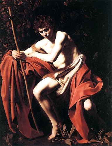 'St John The Baptist, 1604', Oil by Caravaggio - Michelangelo Merisi (1571-1610, Italy)