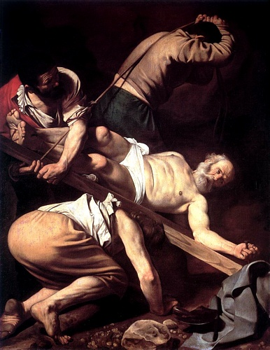 'The Crucifixion Of Saint Peter', Oil by Caravaggio - Michelangelo Merisi (1571-1610, Italy)
