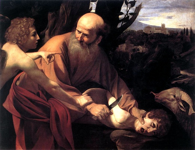'The Sacrifice Of Isaac, 1601', Oil by Caravaggio - Michelangelo Merisi (1571-1610, Italy)