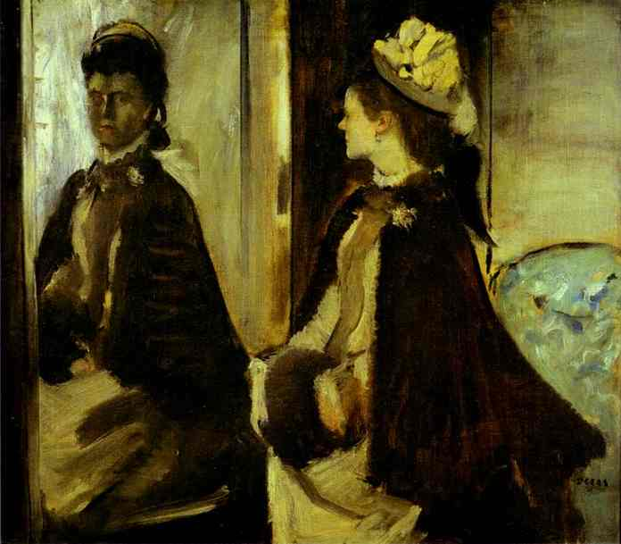 'Mme. Jeantaud at the Mirror', Oil by Edgar Degas (1834-1917, France)