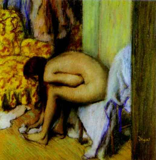 Nude Wiping Her Foot by Edgar Degas (1834-1917, France) | Painting Copy | WahooArt.com