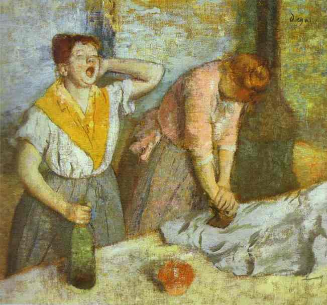 Women Ironing by Edgar Degas (1834-1917, France) | WahooArt.com