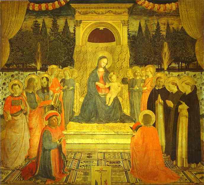 San Marco Altarpiece by Fra Angelico (1400-1455, Italy) | WahooArt.com