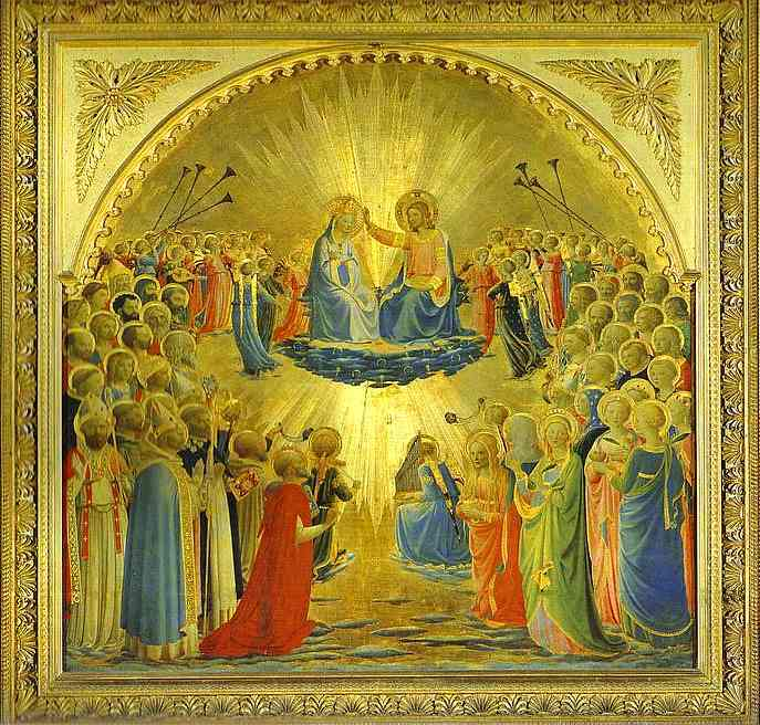 'The Coronation of the Virgin', Oil by Fra Angelico (1400-1455, Italy)