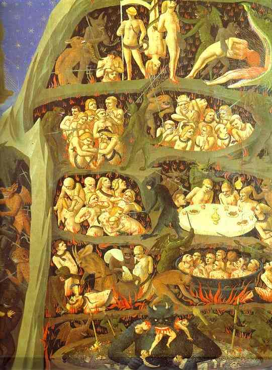 'The Last Judgement', Oil by Fra Angelico (1400-1455, Italy)