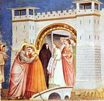Giotto - Ambrogio Bondone - Scrovegni - [06] - Meeting at the Golden Gate