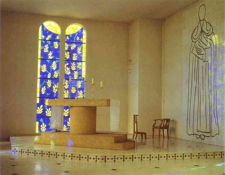 'Interior of the Chapel of the Rosary, Vence', Oil by Henri Matisse (1869-1954, France)