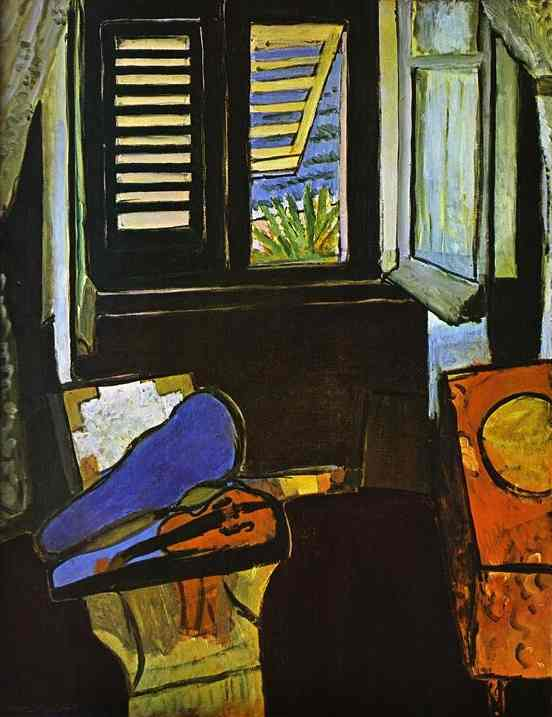 Interior with a Violin by Henri Matisse (1869-1954, France) | Museum Quality Reproductions | WahooArt.com