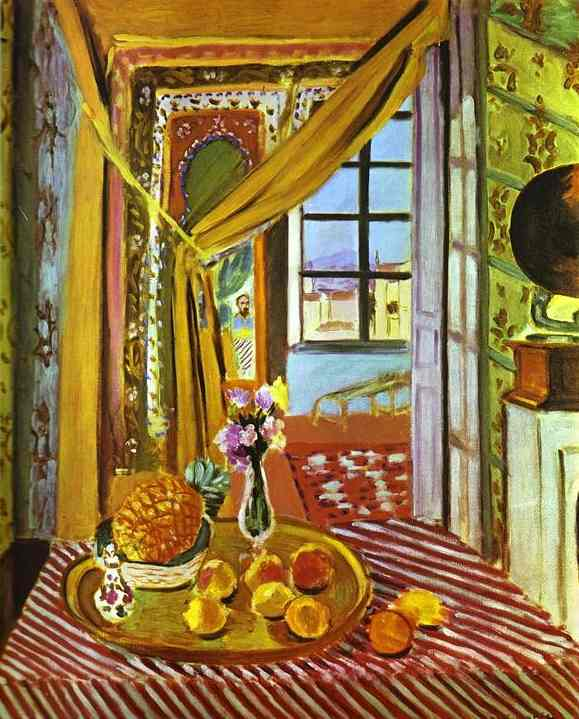 Interior with Phonograph by Henri Matisse (1869-1954, France) | Painting Copy | WahooArt.com