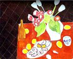 Henri Matisse - Tulips and Oysters on Black Background