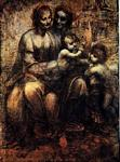 Leonardo Da Vinci - St Anne with Mary and St John
