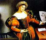 Lorenzo Lotto - Lady with a Drawing of Lucretia