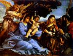 Lorenzo Lotto - Madonna with Child, St. Catherine, and St. Jacob