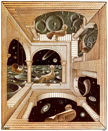 ANOTHER WORLD by Maurits Cornelis Escher (1898-1972, Netherlands) | Oil Painting | WahooArt.com