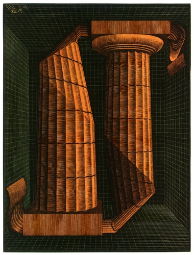 'Doric Columns', Lithography by Maurits Cornelis Escher (1898-1972, Netherlands)