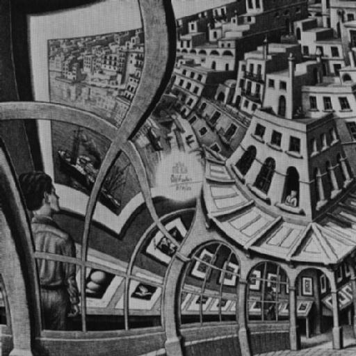 Hall City by Maurits Cornelis Escher (1898-1972, Netherlands) | Oil Painting | WahooArt.com