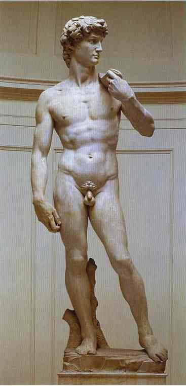 'David', Sculpture by Michelangelo Buonarroti (1475-1564, Italy)