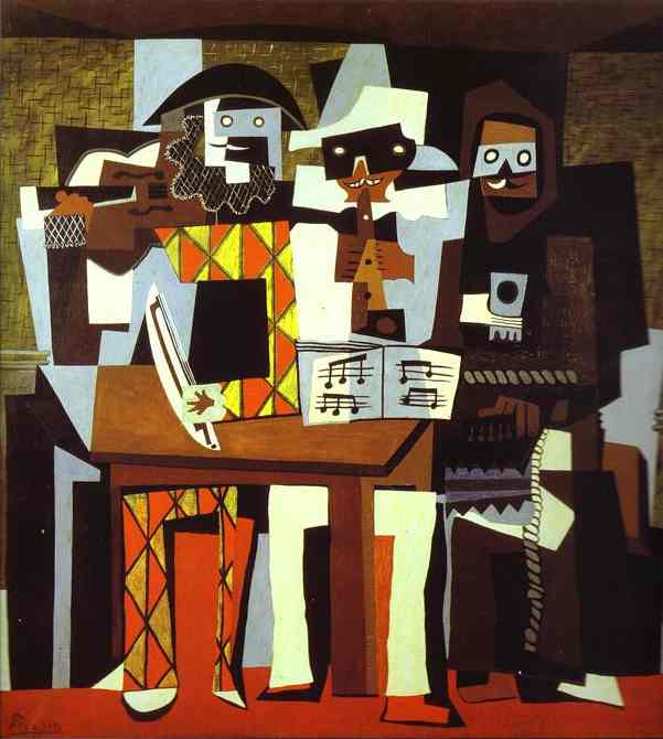 'Three Musicians, or Musicians in Masks', Oil by Pablo Picasso (1881-1973, France)