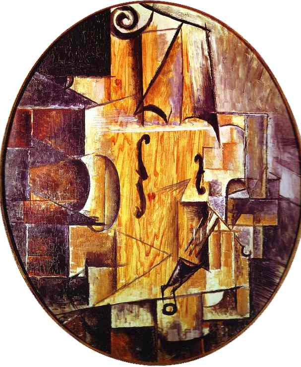 'Violin', Oil by Pablo Picasso (1881-1973, France)