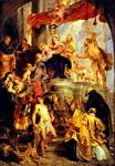 Peter Paul Rubens - Madonna and Child Enthroned with Saints