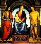 Pietro Perugino - Madonna and Child Enthroned with St. John the Baptist and St. Sebastian