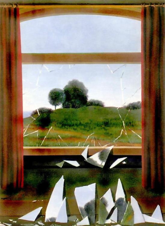 'Key To The Fields', Oil by Rene Magritte (1898-1967, Belgium)