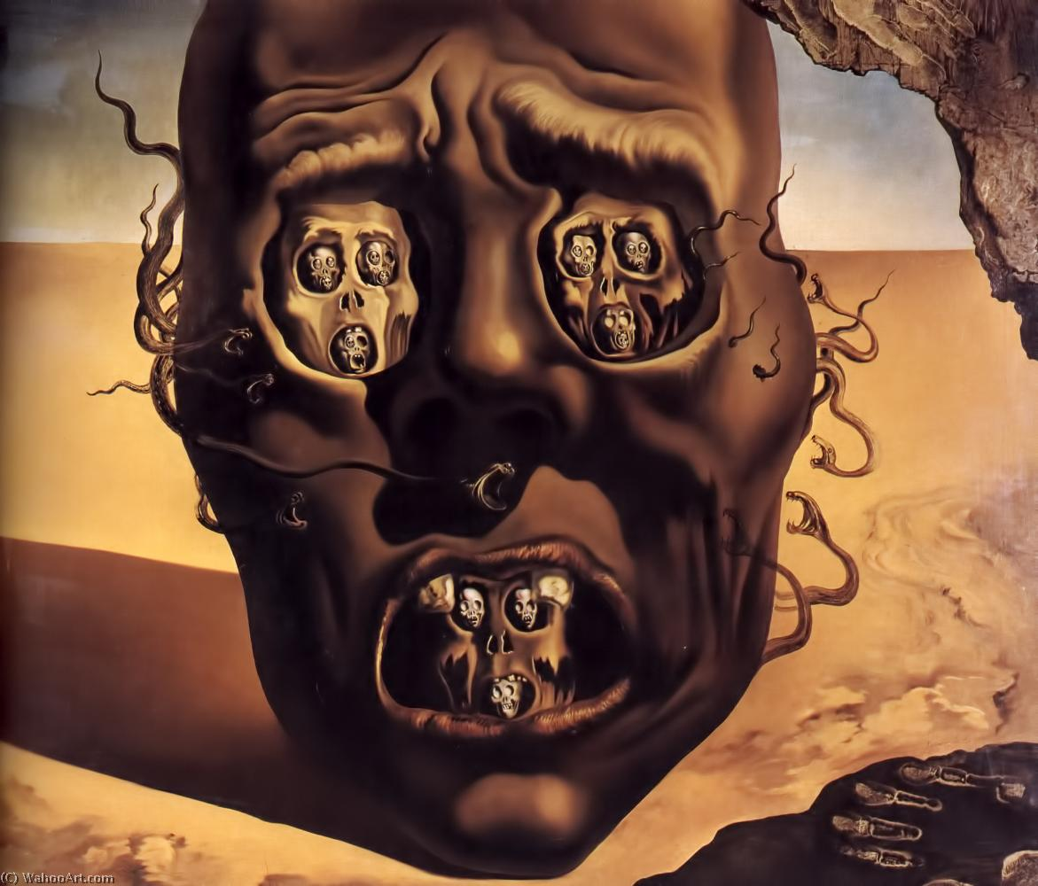 'The Face Of War', Oil by Salvador Dali (1904-1989, Spain)