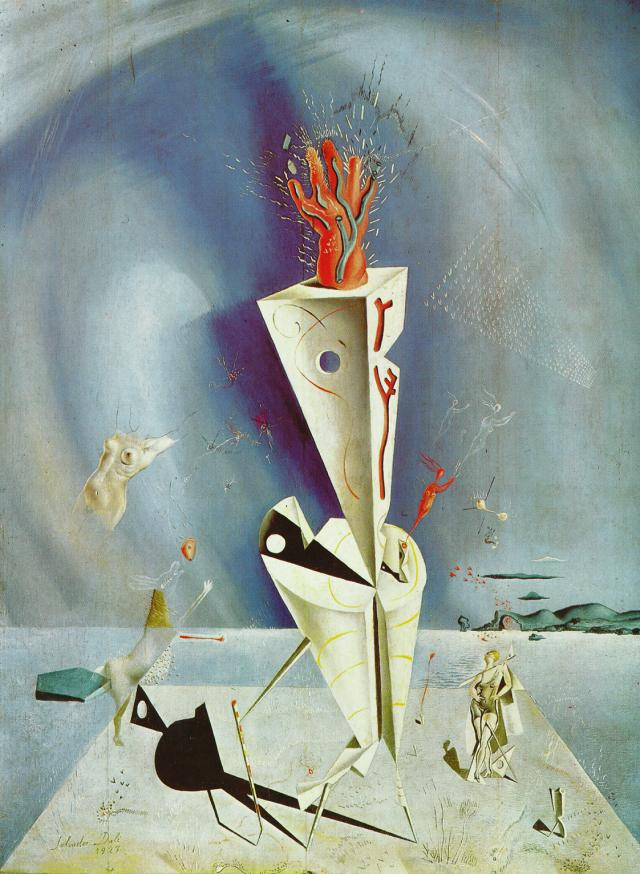 'Apparatus and Hand, 1927', Oil by Salvador Dali (1904-1989, Spain)