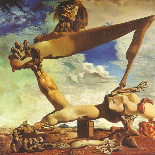 'Soft Construction with Boiled Beans - Premonition of Civil War, 1936', Oil by Salvador Dali (1904-1989, Spain)