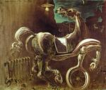 Salvador Dali - Debris of an Automobile Giving Birth to a Blind Horse Biting a Telephone, 1938