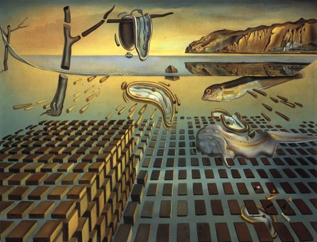 'The Disintegration of Persistence of Memory, 1952-54', Oil by Salvador Dali (1904-1989, Spain)