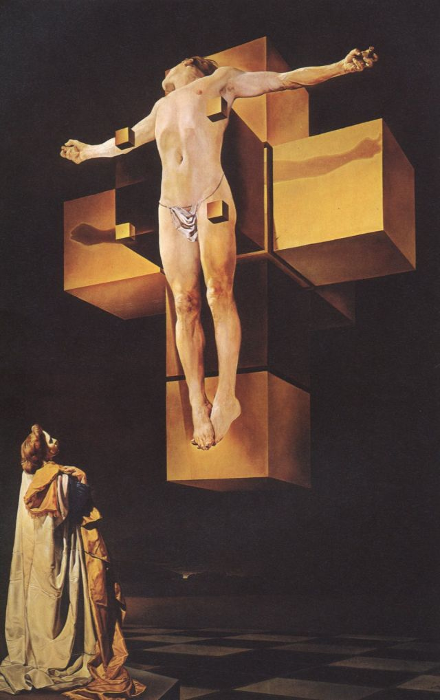 'Crucifixion ('Corpus Hypercubus'), 1954', Oil by Salvador Dali (1904-1989, Spain)