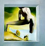 Salvador Dali - DalH Lifting the Skin of the Mediterranean Sea to Show Gala the Birth of Venus (stereoscopic work, right component), 1977
