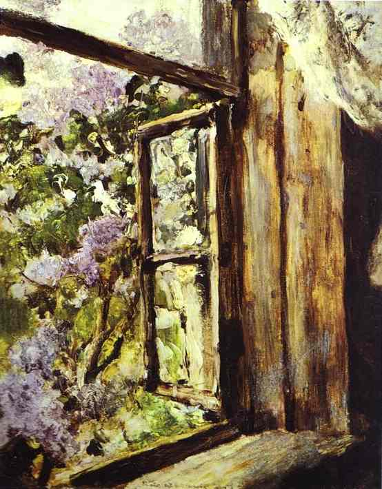 'Open Window. Lilacs. Study', Oil by Valentin Serov (1865-1911, Russia)