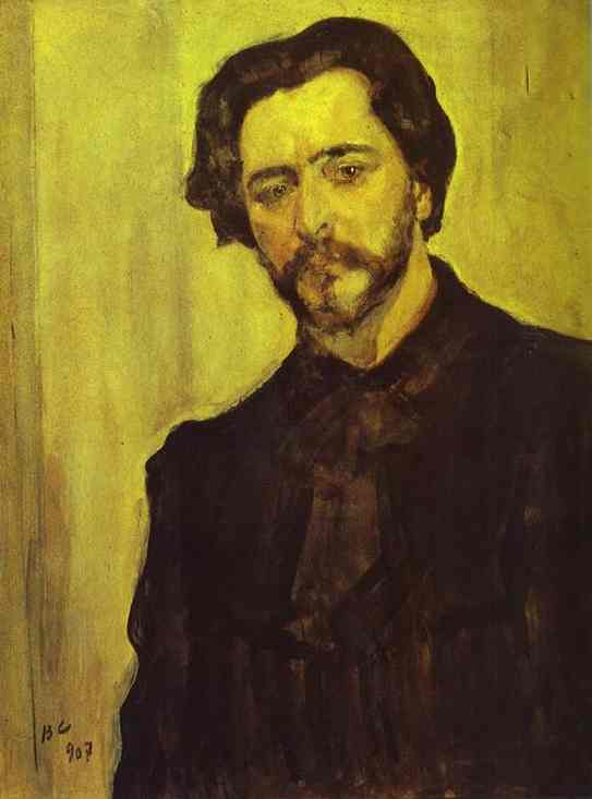 'Portrait of the Writer Leonid Andreev', Oil by Valentin Serov (1865-1911, Russia)