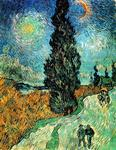 Vincent Van Gogh - Road with Cypress and Star [1890]