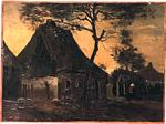 Vincent Van Gogh - Cottage with Trees 4