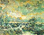 Vincent Van Gogh - Cottages and Cypresses Reminiscence of the North