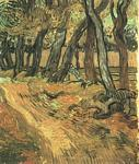 Vincent Van Gogh - Garden of Saint-Paul Hospital with Figure, The
