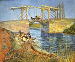 Vincent Van Gogh - Langlois Bridge at Arles with Women Washing, The