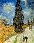 Vincent Van Gogh - Road with Cypress and Star