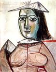 Pablo Picasso - Woman with Dark Eyes (1941)