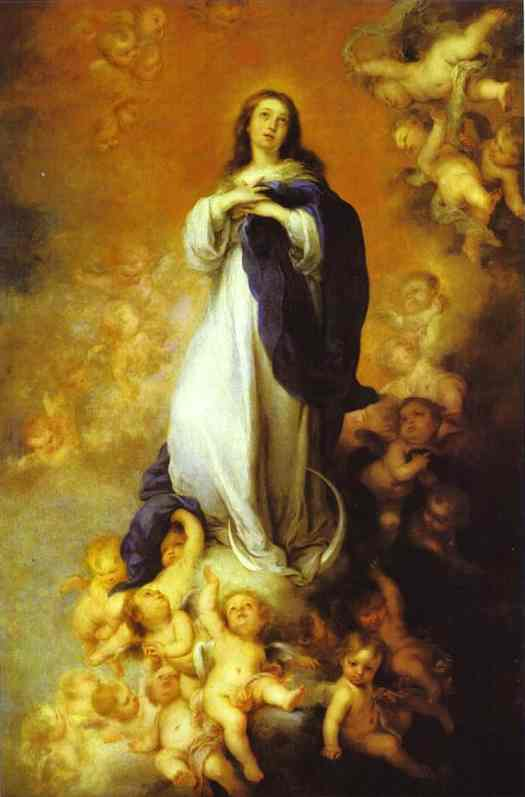 'Our Lady of the Immaculate Conception', Oil by Bartolome Esteban Murillo (1617-1682, Spain)