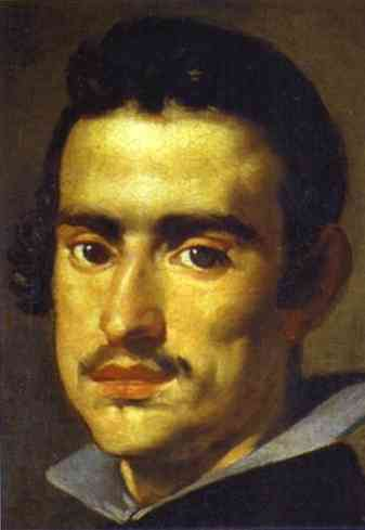 'A Young Man (Self-Portrait)', Oil by Diego Velazquez (1599-1660, Spain)