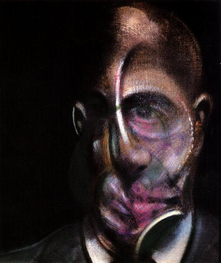 'portrait of michel leris, 1976', Oil by Francis Bacon (1561-1626, United Kingdom)